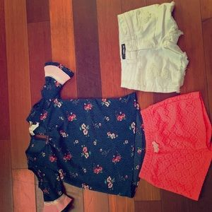 Other - Super cute outfit with an extra pair of shorts! 💜